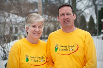 Jeff and Laurie, Owners of Sweet Delight Kettle Corn